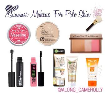 Holly's recommendations for pale skin beauty