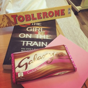 The view from my hospital bed during recovery - the chocolate had to wait until I was allowed return home